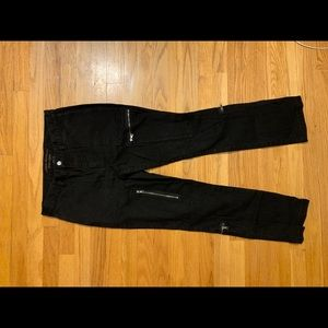 Ralph Lauren black jeans with zippers -size 8